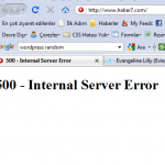 Haber 7 Internal Server Error Hatası