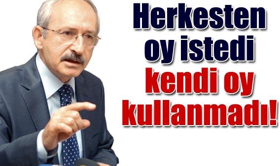 Kemal Kılıçdaroğlu Oy Kullanamadı
