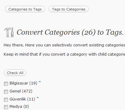 Kategori Etiket Dönüştürücü'den Bir Görünüm