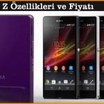 Sony Xperia Z Özellikleri ve Fiyatı